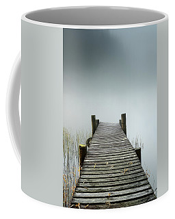 Coffee Mug featuring the photograph Loch Ard Jetty by Grant Glendinning