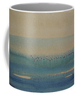 Coffee Mug featuring the painting Loch Of My Heart by Mini Arora