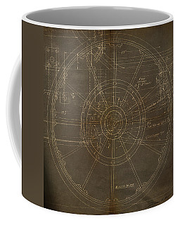Coffee Mug featuring the painting Locomotive Wheel by James Christopher Hill