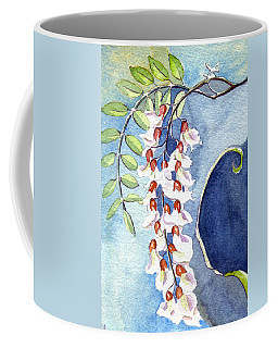 Coffee Mug featuring the painting Locust Bloom by Katherine Miller