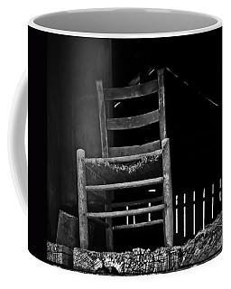 Coffee Mug featuring the photograph Loft Chair 2 In B/w by Greg Jackson