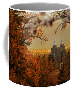 Coffee Mug featuring the photograph Logan Temple by Dustin  LeFevre
