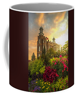 Coffee Mug featuring the photograph Logan Temple Garden by Dustin  LeFevre