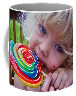 Coffee Mug featuring the photograph Lollipop Bliss by Lanita Williams