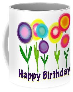 Coffee Mug featuring the digital art Lollipop Flowers  by Christine Fournier