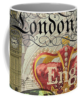 London England Vintage Travel Collage  Coffee Mug