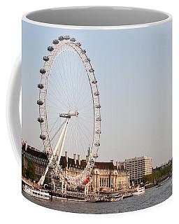 Coffee Mug featuring the photograph London Eye Day by Matt Malloy