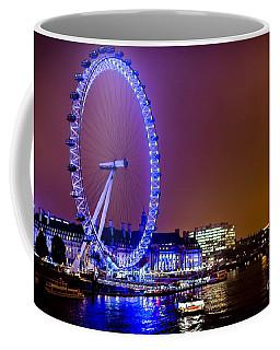 Coffee Mug featuring the photograph London Eye Night Glow by Matt Malloy