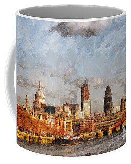 London Skyline From The River  Coffee Mug