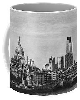 London Skyline Pencil Drawing Coffee Mug