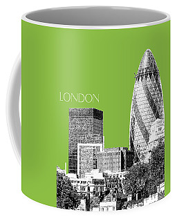 London Skyline The Gherkin Building - Olive Coffee Mug