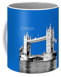 London Skyline Tower Bridge - Blue Coffee Mug