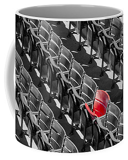 Lone Red Number 21 Fenway Park Bw Coffee Mug by Susan Candelario