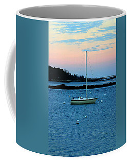 Lone Sailboat At York Maine Coffee Mug
