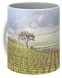 Lone Tree In The Vineyard Coffee Mug by AJ  Schibig