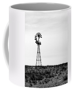 Coffee Mug featuring the photograph Lone Windmill by Cathy Anderson