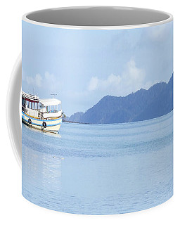 Coffee Mug featuring the photograph Lonely Boat by Andrea Anderegg