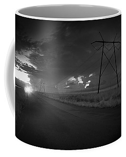 Coffee Mug featuring the photograph Long Road Home by Bradley R Youngberg