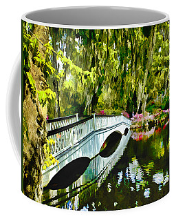 Long White Bridge Faux Painting Coffee Mug