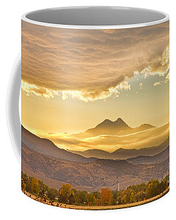 Longs Peak Autumn Sunset Coffee Mug