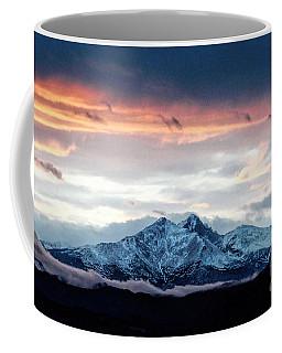 Longs Peak In Winter Coffee Mug