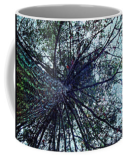 Coffee Mug featuring the photograph Look Up Through The Trees by Joy Nichols