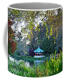 Coffee Mug featuring the photograph Looking Across Stow Lake At The Pagoda In Golden Gate Park by Jim Fitzpatrick