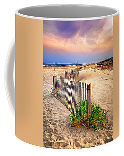 Looking Down The Beach Coffee Mug