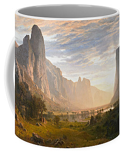 Looking Down Yosemite Valley California Coffee Mug