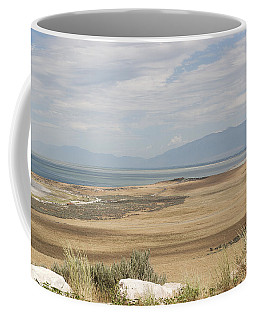 Coffee Mug featuring the photograph Looking North From Antelope Island by Belinda Greb