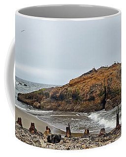 Coffee Mug featuring the photograph Looking Out On The Pacific Ocean From The Sutro Bath Ruins In San Francisco  by Jim Fitzpatrick