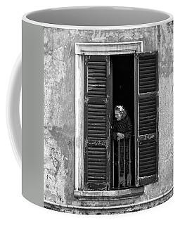 Looking Outside Coffee Mug