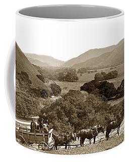 Looking Up The Carmel Valley California Circa 1880 Coffee Mug