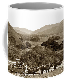 Looking Up The Carmel Valley California Circa 1880 Coffee Mug