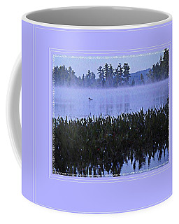 Coffee Mug featuring the photograph Loon On A Misty Morning At Parker by Joy Nichols