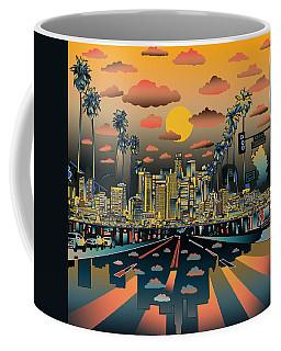 Los Angeles Skyline Abstract 2 Coffee Mug