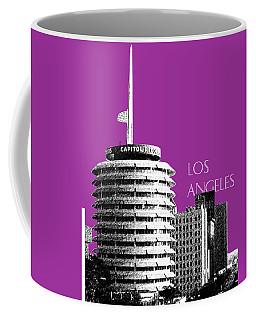 Los Angeles Skyline Capitol Records - Plum Coffee Mug