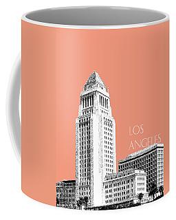 Los Angeles Skyline City Hall - Salmon Coffee Mug