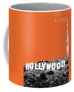 Los Angeles Skyline Hollywood - Coral Coffee Mug