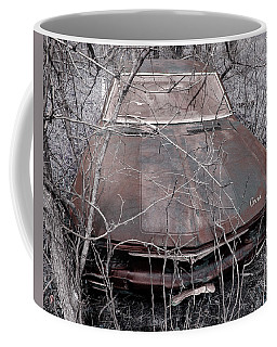 Coffee Mug featuring the photograph Lost Corvair Adjustment  by Christopher McKenzie
