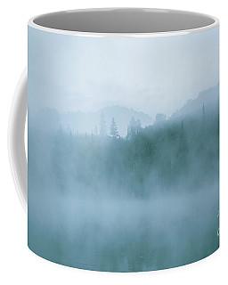 Lost In Fog Over Lake Coffee Mug