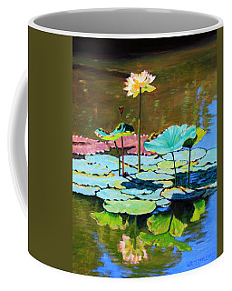 Lotus Above The Lily Pads Coffee Mug