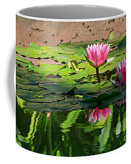 Coffee Mug featuring the photograph Lotus Flower Reflections by Beth Sargent