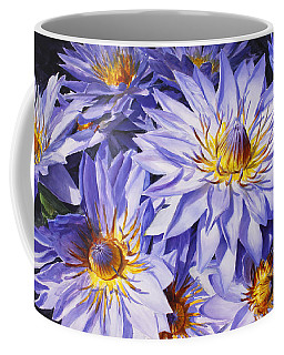 Lotus Light - Hawaiian Tropical Floral Coffee Mug by Karen Whitworth