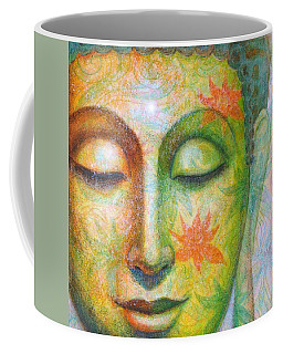 Coffee Mug featuring the painting Lotus Meditation Buddha by Sue Halstenberg