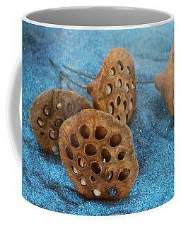 Coffee Mug featuring the photograph Lotus Pods by Diane Alexander