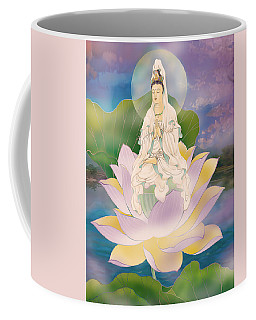 Lotus-sitting Avalokitesvara  Coffee Mug by Lanjee Chee