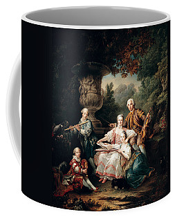 Louis Du Bouchet 1645-1716 Marquis De Sourches And His Family, 1750 Oil On Canvas Coffee Mug