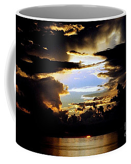 Coffee Mug featuring the photograph Louisiana Sunset Blue In The Gulf  Of Mexico by Michael Hoard
