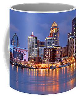 Louisville Skyline At Dusk Sunset Panorama Kentucky Coffee Mug